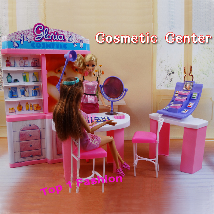New Arrival Girl Gift Play Toy Doll House Cosmetic Center Furniture