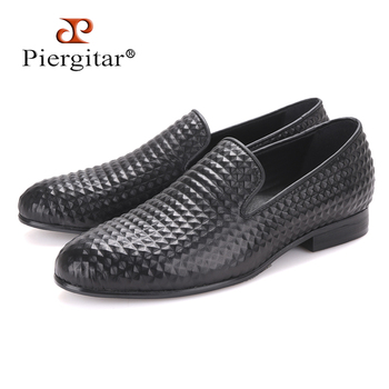 3D Technique Men's leather Loafers For Party and Wedding Occasion Classic British Style men dress shoes