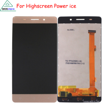 LCD Display Touch Screen Digitizer Assembly For Highscreen Power Ice 100% Original Tested Lcd screen Display Free Shipping