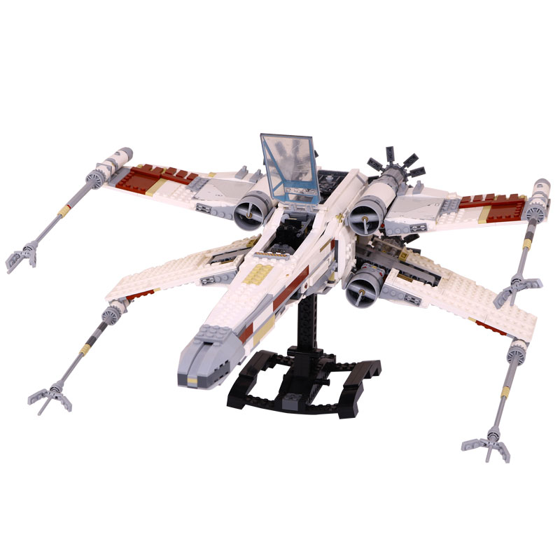 DHL LEPIN 05039 Star Cool Model Wars 1586pcs Red Five X Starfighter wing Building Blocks Bricks toy Compatible 10240 Boy gifts dhl free shipping lepin 16002 pirate ship metal beard s sea cow model building kits blocks bricks toys compatible legoed 70810