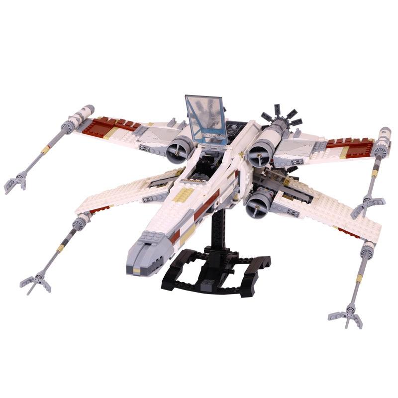 Lepin 05039 1616Pcs Star Genuine Wars The X UCS wing Red Five Star fighter Set Building Blocks Bricks DIY toys LegoINGlys 10240 конструктор lepin star wnrs истребитель сопротивления x wing fighter 740 дет 05029
