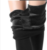 Free Shipping Womens FLEECE LINED HIGH WAIST Thermal THICK Winter FOOTLESS Tights Pantyhose
