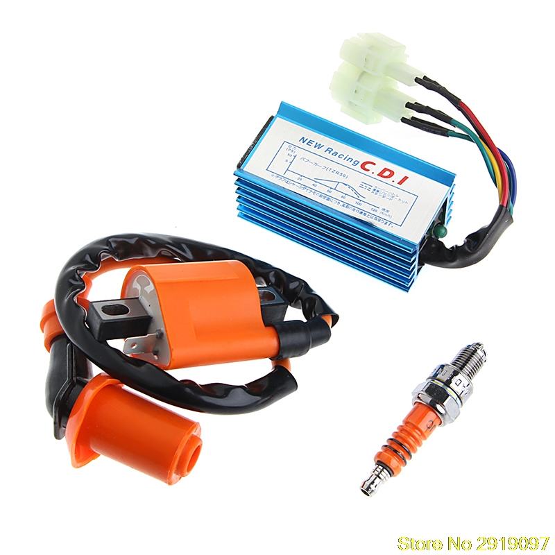 New Arrive ATV Racing Ignition Coil Spark Plug CDI For Gy6 Scooter Go Kart 150cc 125cc 50cc Drop Shipping Support