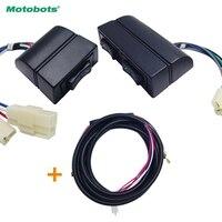 MOTOBOTS 3Pcs Set Universal Auto Double Arrow Power Window Switch Holder Wire Harness Illumination Light FD