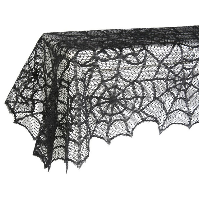 Spider Web Net Black Lace Halloween Easter Festival Tablecloth For Parties  Event Decor, U0026 Dinner