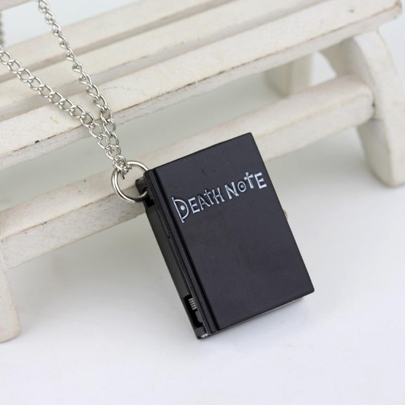 Women Mens Watch Clock Top Fashion Necklace Chain Pocket Unique Death Note Bronze Quartz Fob Watches Relogio Masculino Date