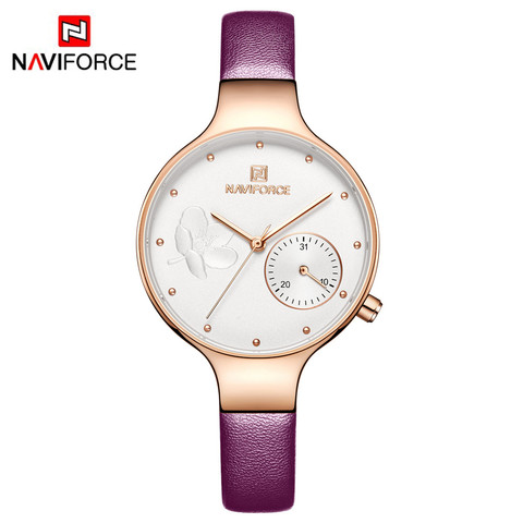 Naviforce Women Watches Luxury Brand Leather belt Ladies Quartz Wrist Watch Women Watches Sport Relogio Feminino Montre Femme Lahore