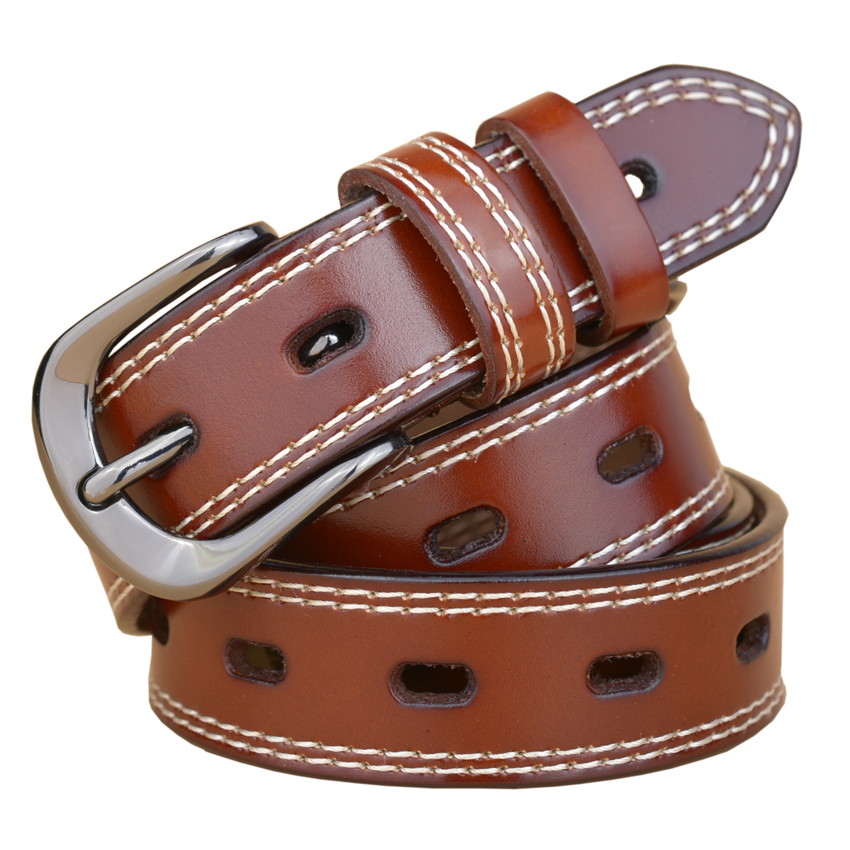 mejor amado 892c6 7a060 € 7.19 50% de DESCUENTO|2018 nueva moda de lujo de cuero genuino cinturón  mujer Vintage piel de vaca cinturones mujeres diseñador de alta calidad ...