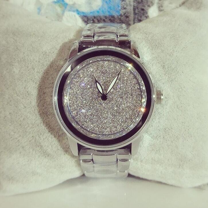 Prix pour Élégant femmes strass montre en acier de mode dames montre vintage femmes dresswatch quartz marque de luxe en céramique diamant montre