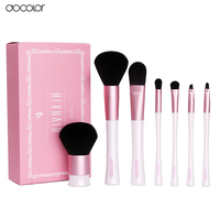Docolor 7PCS Makeup Brushes Professional Mermaid Brush Set New Arrival Fish Make Up Brushes With White