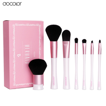 docolor Makeup Brushes 7PCS Professional Mermaid Brush Set New Arrival  Make Up brushes with White Bag Beauty Essential Tool
