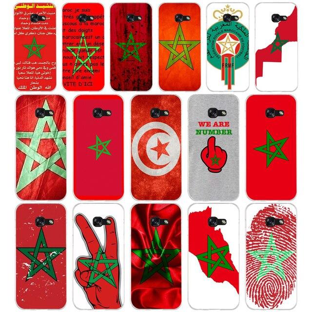 171SD Morocco Cờ Mềm Silicone Tpu Bìa điện thoại Trường Hợp đối Với Samsung a3 2016 a5 2017 a6 cộng với a7 a8 a9 sao lite s 6 7 8 9