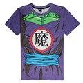 Chegam novas Piccolo Cosplay T Camisa Dos Desenhos Animados Dragon Ball Z DBZ Camisetas Tees Tops de Manga Curta Casuais Camisa Verão