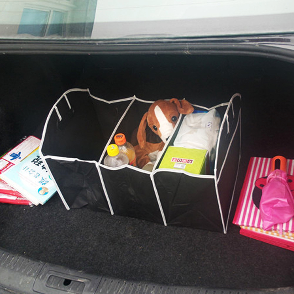 1PCS Collapsible Black Car Non-Woven Organizer Toys Food Storage Container Bags Box Car Stowing Styling Auto Accessories 13