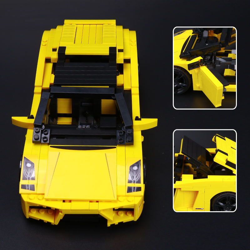 NEW 820Pcs Yile 011 Creative Technic Series The Out of Print Lamborghiki Super Sports Car Building Blocks Bricks Toys Lepin 8169 car model scene 1 18 car girl dolls out of print