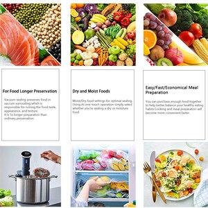 Image 5 - YAJIAO Gıda vakumlama makinesi Çantası 20cm * 500cm Kesme Bıçağı Kutusu vakumlama makinesi Gıda Taze Mutfak Uzun Tutmak saklama çantası