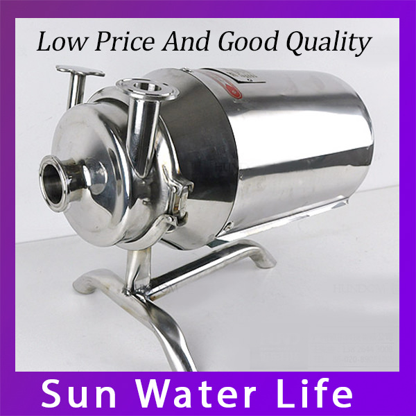 Hot Sale Food Grade Dairy Milk Pump 370W Sanitary Centrifugal Pump 3m3/h Beer Beverage Pump
