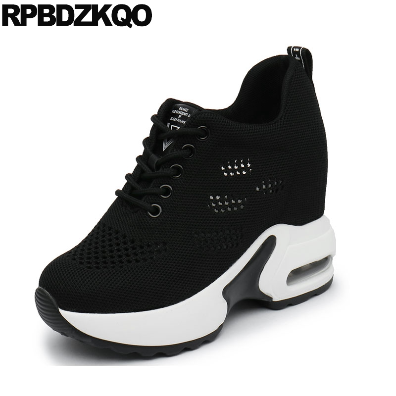 hollow out muffin breathable flats walking women creepers platform shoes black elevator sneakers thick sole hidden trainers meshhollow out muffin breathable flats walking women creepers platform shoes black elevator sneakers thick sole hidden trainers mesh