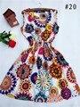 ГОРЯЧАЯ! 2017 новый 20 Стили Женщины повседневная Чешские цветочные leopard рукавов жилет печатных пляж шифон dress