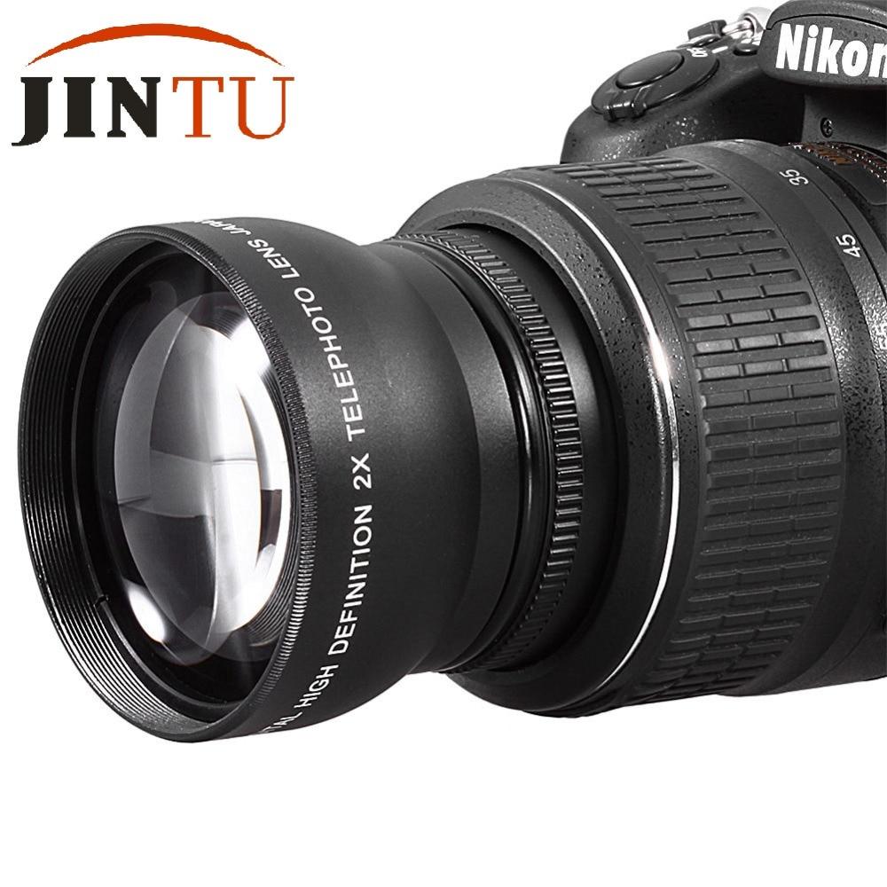 58MM 2X Digital High Definition eleconverter Telephoto Lens for DSLR Camera Canon Nikon with 58mm Thread