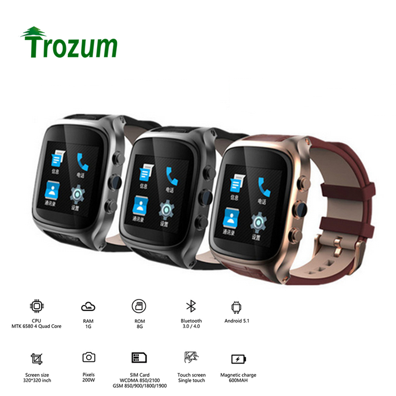 Trouzum  Smart Watch X01S 3G Smartwatch Phone Android 5.1 Life Waterproof GPS Pedometer WiFi Bluetooth Mp3 Camera Heart Rate smart phone watch 3g 2g wifi zeblaze blitz camera browser heart rate monitoring android 5 1 smart watch gps camera sim card