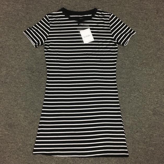 New Runway 2017 women summer shirt dress vintage striped bodycon sexy fitness mini party dresses robe vestidos