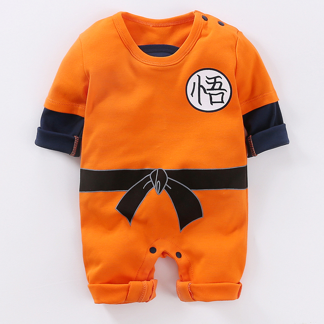 YiErYing Baby Clothing Baby rompers 100% Cotton Dragon Ball Sun Goku Long and Short Sleeve Baby Jumpsuits Baby Boy Girl Clothes 1