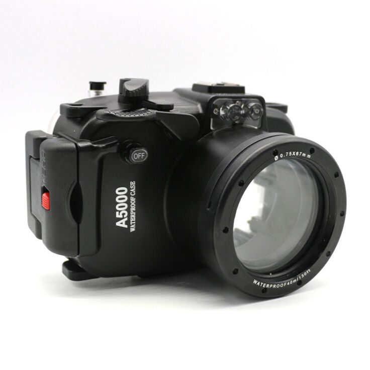 40m 130ft Waterproof Underwater Diving Camera Housing Case for Sony A5000 16 50mm lens