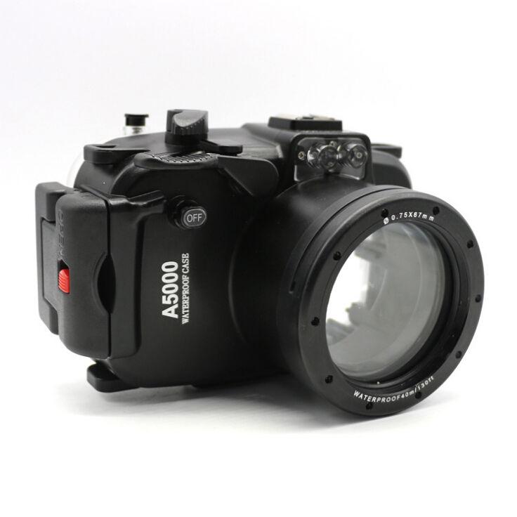 40 m 130ft Étanche Plongée Sous-Marine Caméra Logement Cas pour Sony A5000 16-50mm objectif