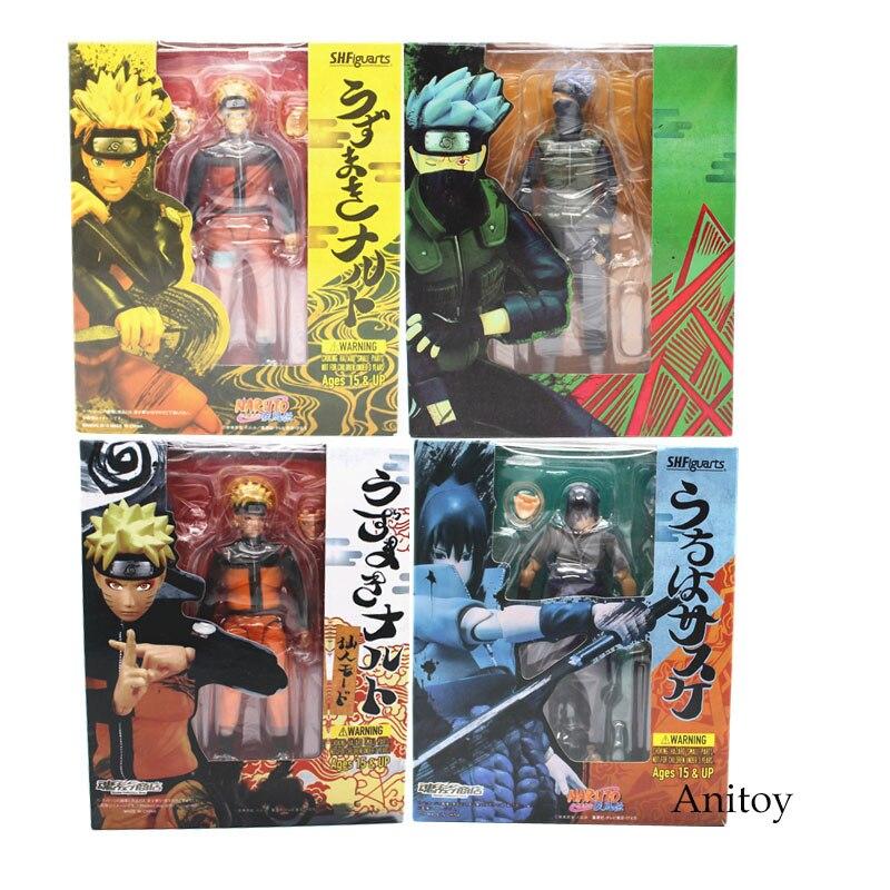 SHF Naruto Shippuden Uzumaki Naruto Sasuke Hatake Kakashi PVC Action Figure Collectible Model Toy 14cm KT3762