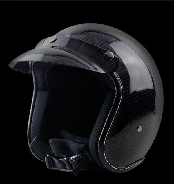 Carbon Fiber Harley Helmets 3/4 Motorcycle Bike Helmet Open Face Vintage Motorcycle Helmet Motocross M L XL XXL free shipping ...
