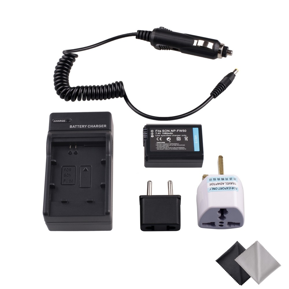 NP-FW50 Batteria e Kit Carica per Sony a37 Alpha 7 7R II 7 S a7R a7S II a5000 NEX-SLT-A37 DSC-RX10 RX10 II III Fotocamera