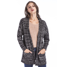 Autumn Winter Long Sleeve Knitted Cardigans For Women Big Size Fitness Wool Ladies Sweater Warm Clothing For Christmas 4 Colors