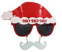 FunPa Рождественский реквизит для фотографий Санта-Клаус шляпа солнцезащитных очков с висящей бородой Рождественский реквизит для фотографи...