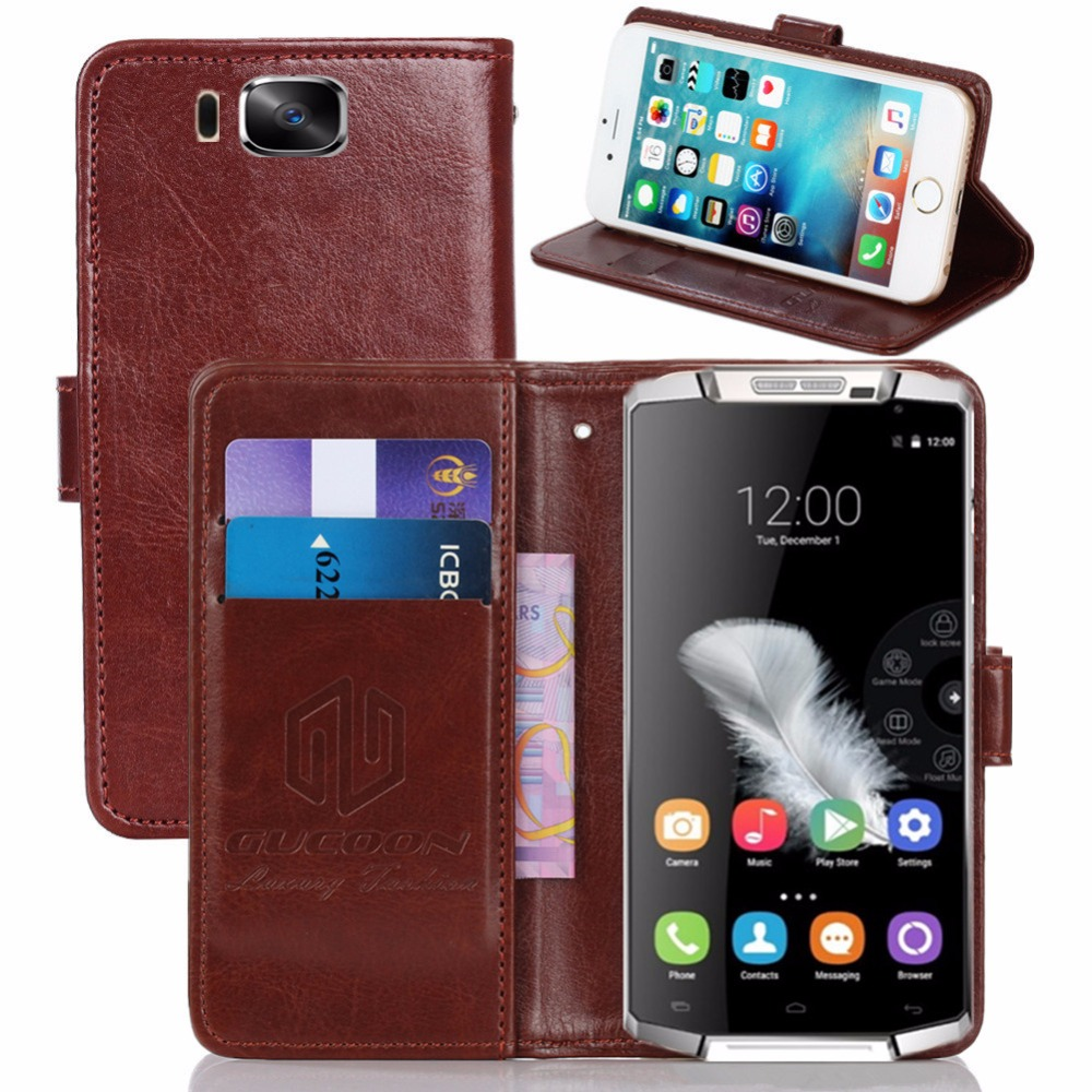 GUCOON Vintage Wallet Case for Oukitel K10000 5.5inch PU Leather Retro Flip Cover Magnetic Fashion Cases Kickstand Strap