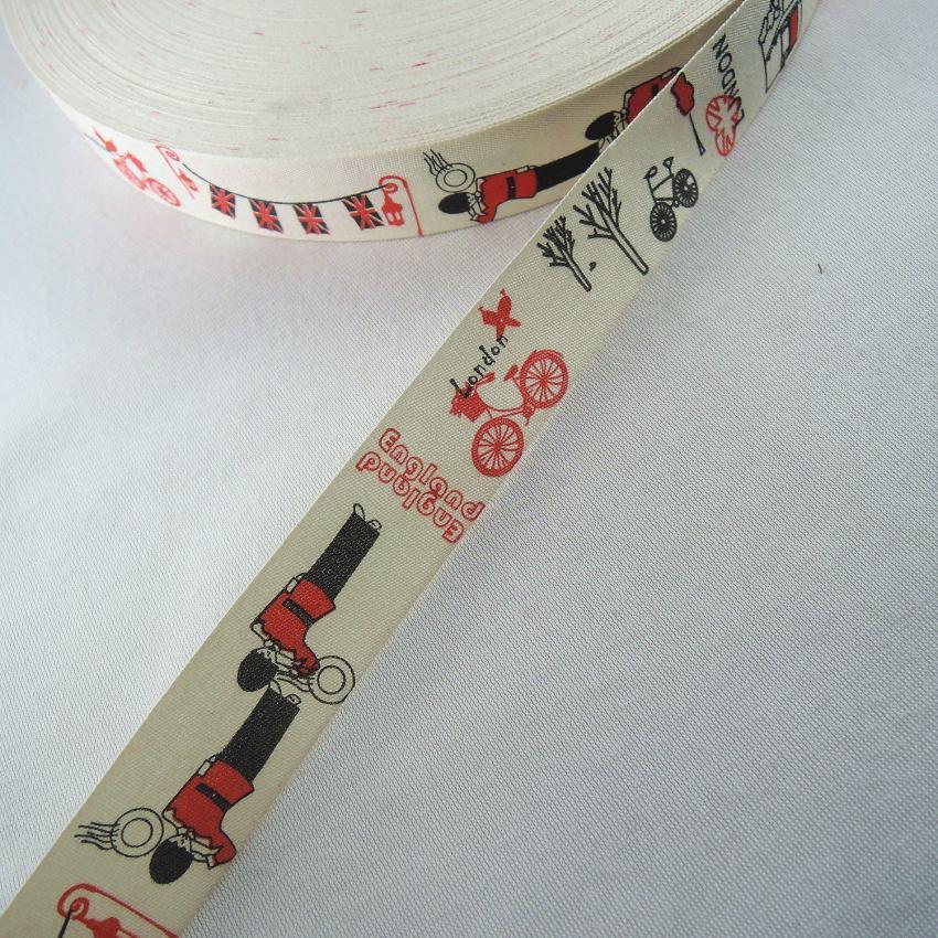 5 yards Cut Sew Labels// Linen Cotton Ribbon 25mm Cuddly Handmade accessories YJU