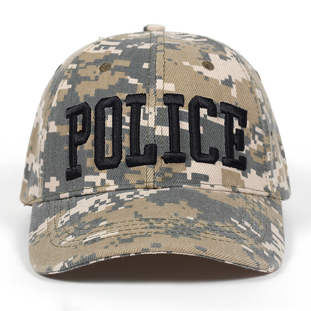 ce782eefe14 new Brand Fashion Letter POLICE Men Caps Casual camouflage Cotton Baseball  Cap For Women Summer Snapback Hats High Quality Bone