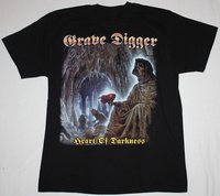 Algodón suelta Camisas grave Digger Corazón de darkness'95 Speed metal pesado banda Saxon hombres o-cuello de manga corta camisetas Tees