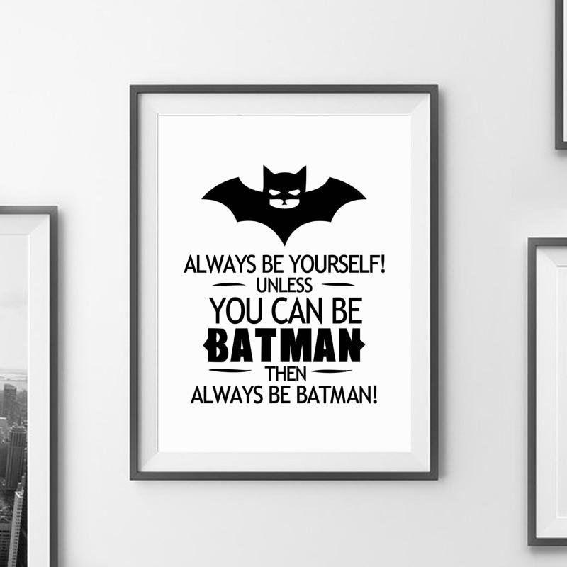 ②Impresión del arte de la lona de la cita de Batman cartel Wall ...