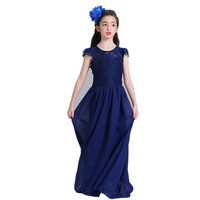 Brand Children Girls Formal Dress Sleeveless Lace Summer Beach Style Applique Dresses For Girls Vintage Toddler Girl Clothing