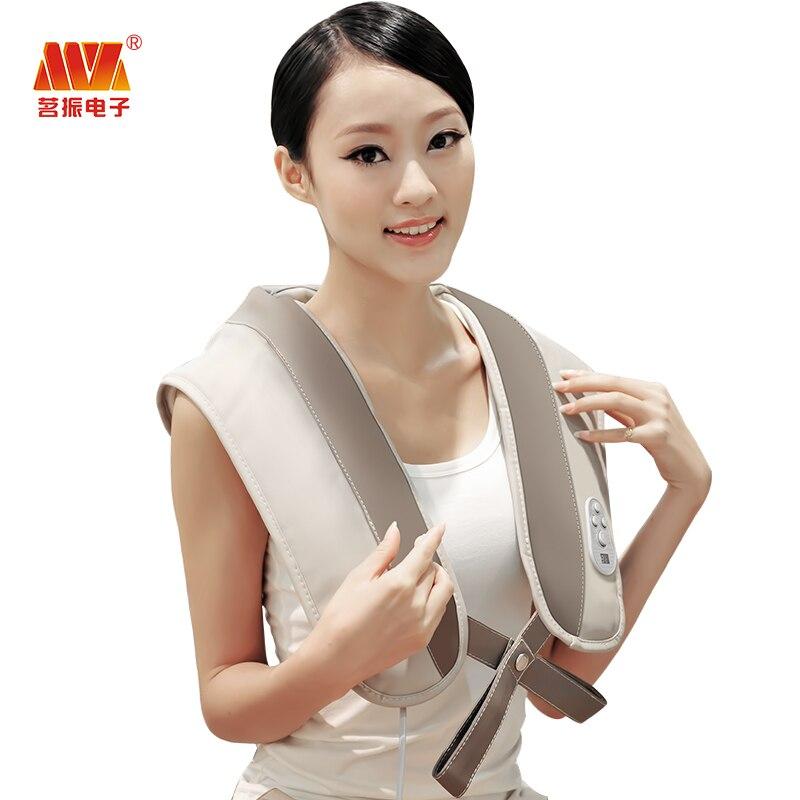 ФОТО Body massage shoulder massagers massage belt back neck shape belt plug massager electric