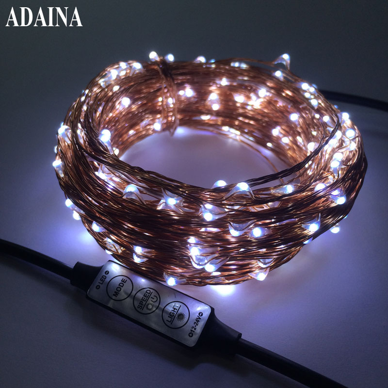 3 Keys Dimmer Waterproof 30m 300 Leds Copper Wire Led