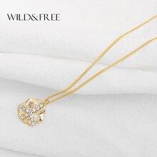 ФОТО wild&free handmade irregular round pendant necklace for women girl alloy brushed rhinestone airplane short chain necklace gift