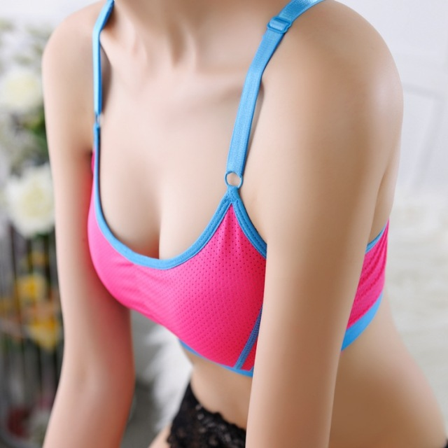400ea1e6f Sports Bra Top Fitting Push Up Bras For Women Crop Top Sport Tube Tank  Women s Underwear Strap Wireless Pad Gym Vest Lingerie