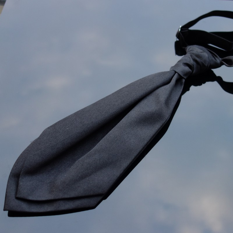 Quality Satin Red Wedding Ruche Knot Tie-Cravat Cravat Adjustable.