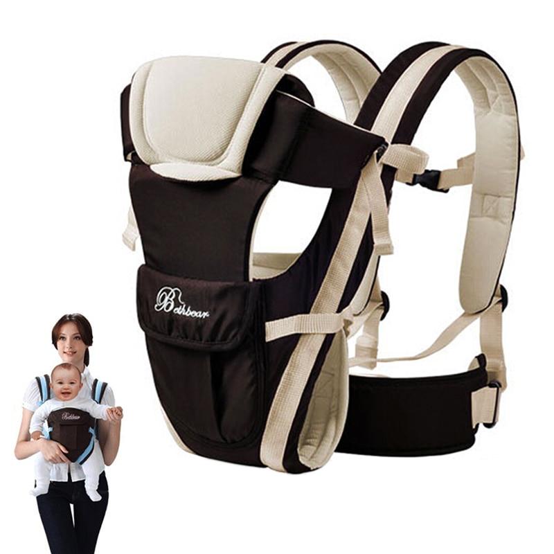 Слинг для малышей от 0 до 30 месяцев, дышащий, передняя сторона, переноска для детей 4 в 1, удобный рюкзак для младенцев, сумка-кенгуру, детский р...