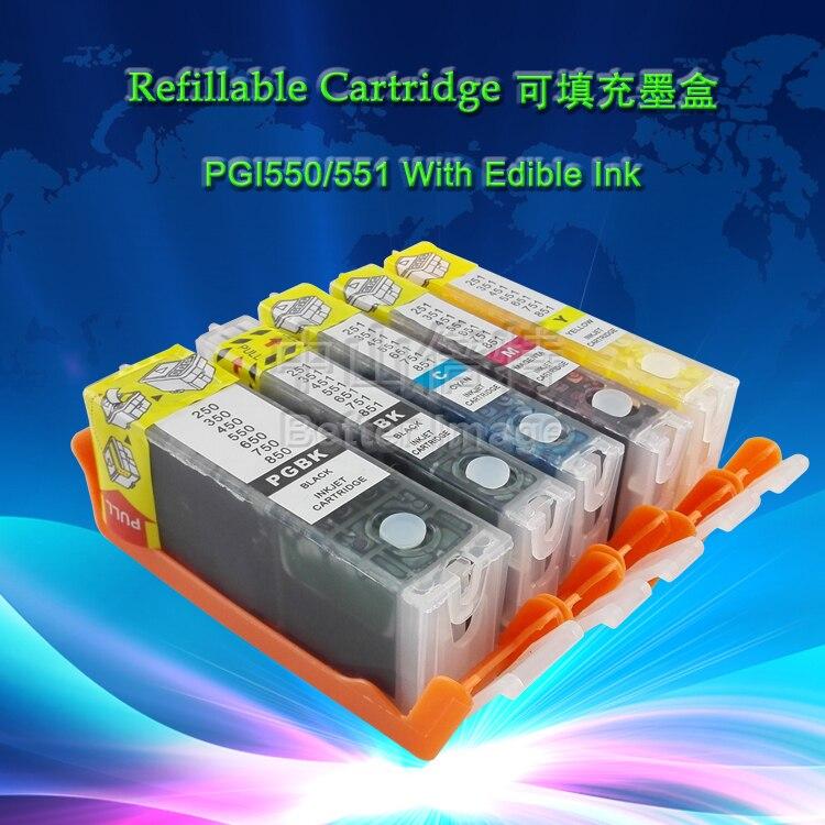 Цветовая температура, многоразовая деталь для замены Pixma PGI550 CLI551 для принтера Canon PIXMA MG5450/MG6350/IP7250/MX925