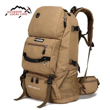 LOKALE LEEUW 60L Tactical Rugzak Molle Militaire Bag Mannen Mountainteering Grote Militaire Rugzak Rucksak Tactische Leger Sport Bag