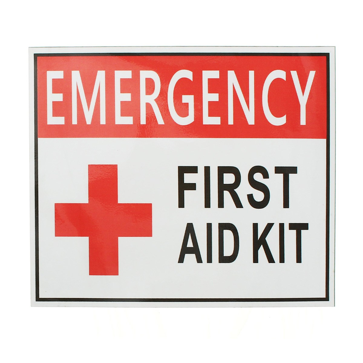 NEW 4 Size Outdoor Camping Hiking Emergency First Aid Sticker Waterproof Label Signs Red Cross Health Safety