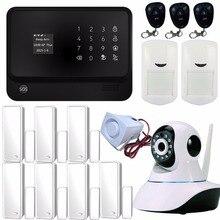 Control de APP WIFI Seguridad Para el Hogar Sistema de Alarma Teclado Táctil GSM GPRS de Seguridad trabaja Con Cámara IP